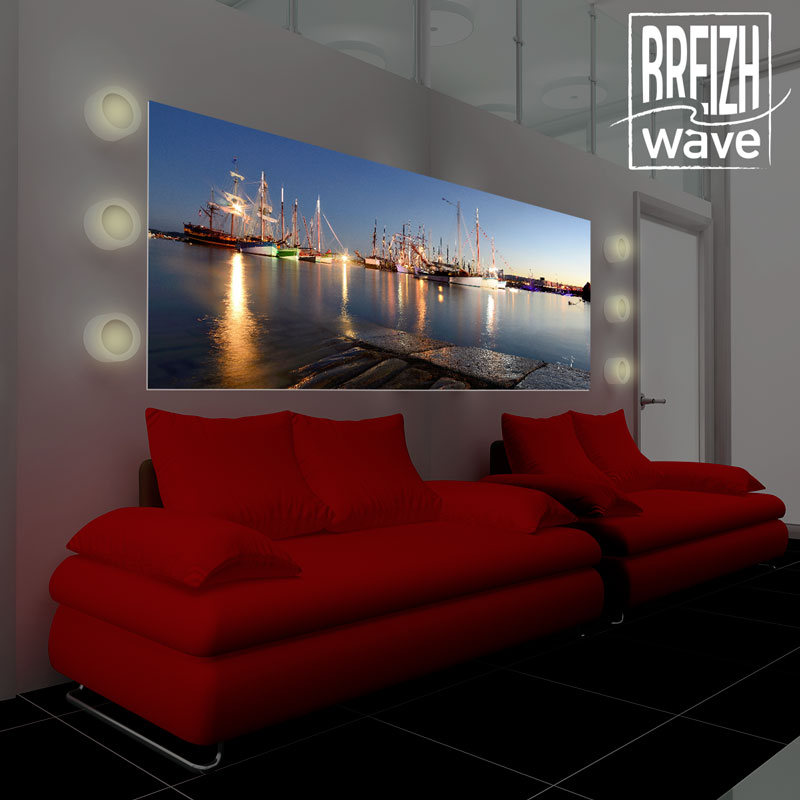 d co int rieure photo sur toile panoramique breizh wave. Black Bedroom Furniture Sets. Home Design Ideas